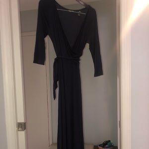 Omg blue maxi dress, medium, navy